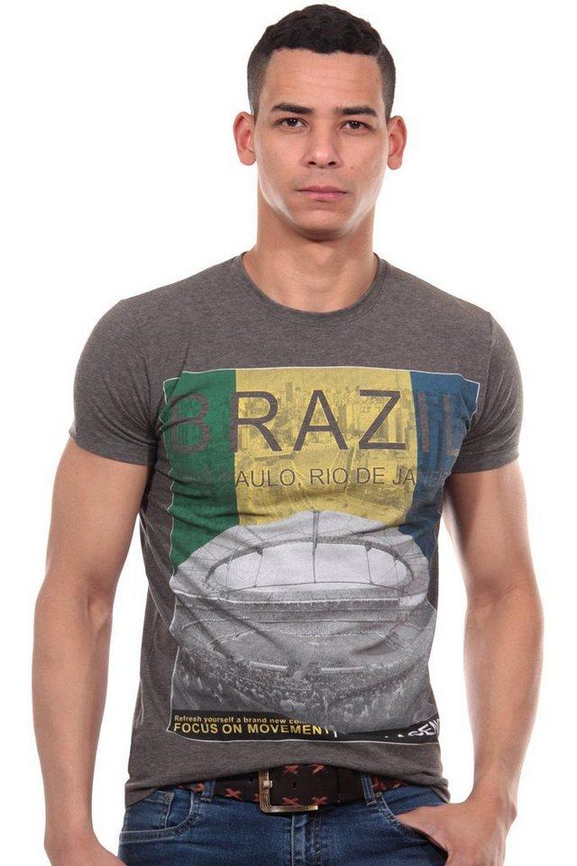 R-NEAL T-Shirt Rundhals slim fit in anthrazit