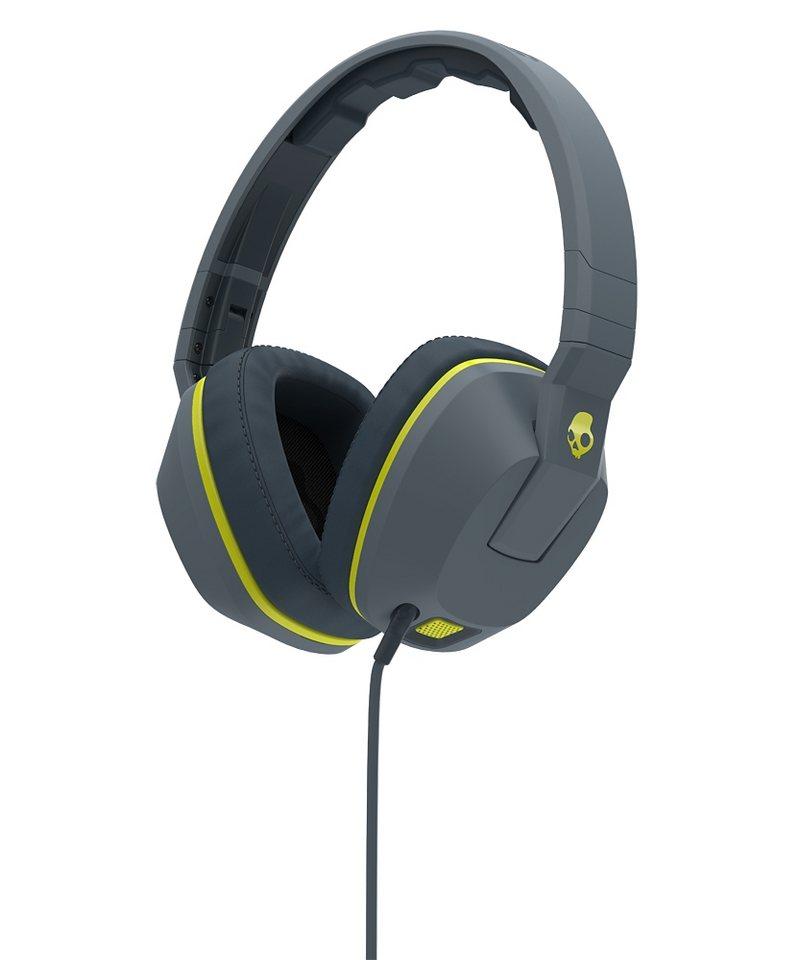 Skullcandy Headset »CRUSHER OVER-EAR W/MIC 1 GRAY/HOT LIME/HOT LIME« in schwarz