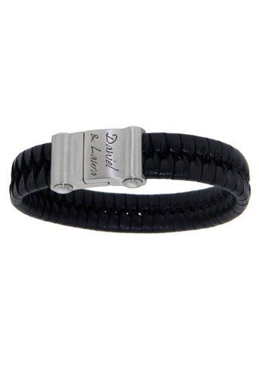Firetti Armband mit Gravur »geflochten mit gratis Gravur«