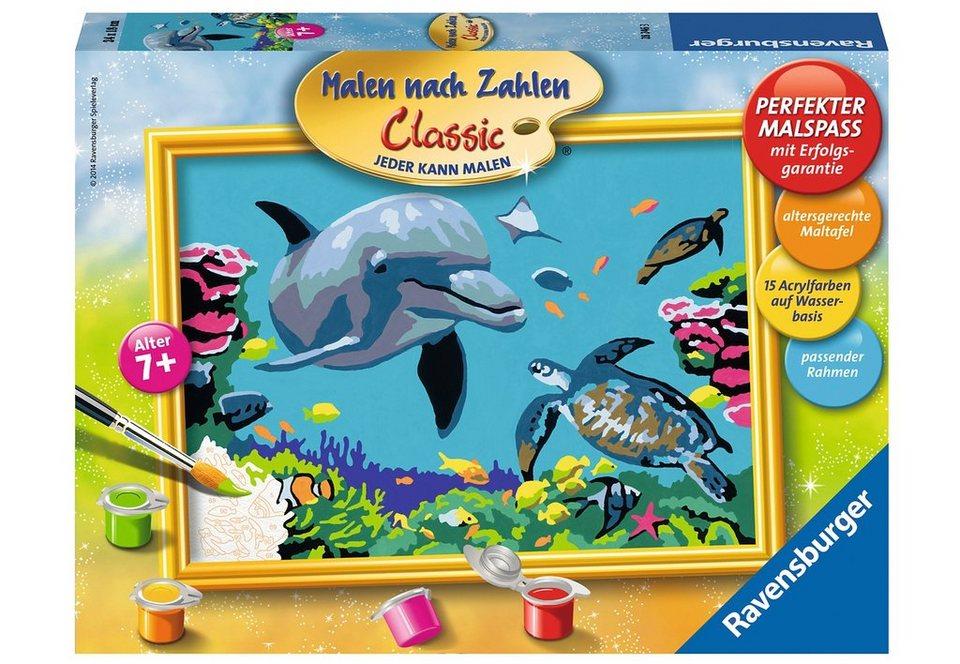 Ravensburger Malen nach Zahlen, »Delfin und Schildkröte«
