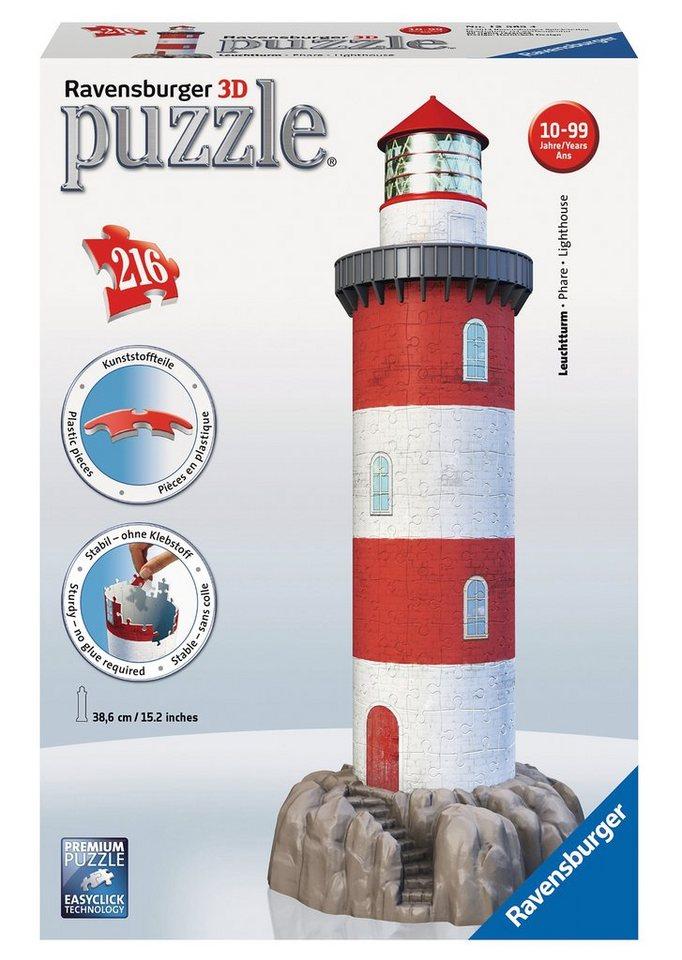 Ravensburger 3D Puzzle 216 Teile, »Leuchtturm in der Brandung«