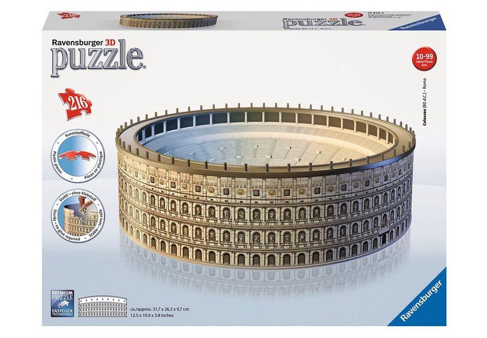 Ravensburger 3D Puzzle 216 Teile, »Kolosseum«