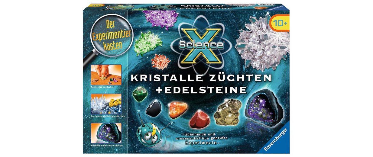 Ravensburger Experimentier-Set, »ScienceX® Kristalle züchten + Edelsteine«