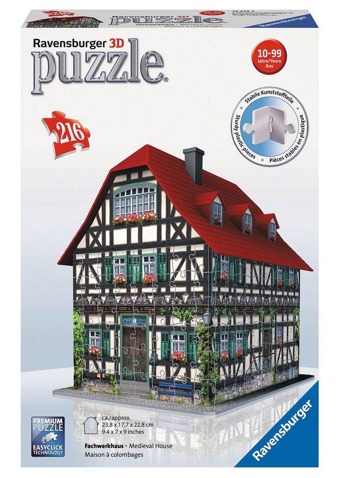 Ravensburger 3D Puzzle 216 Teile, »Fachwerkhaus«