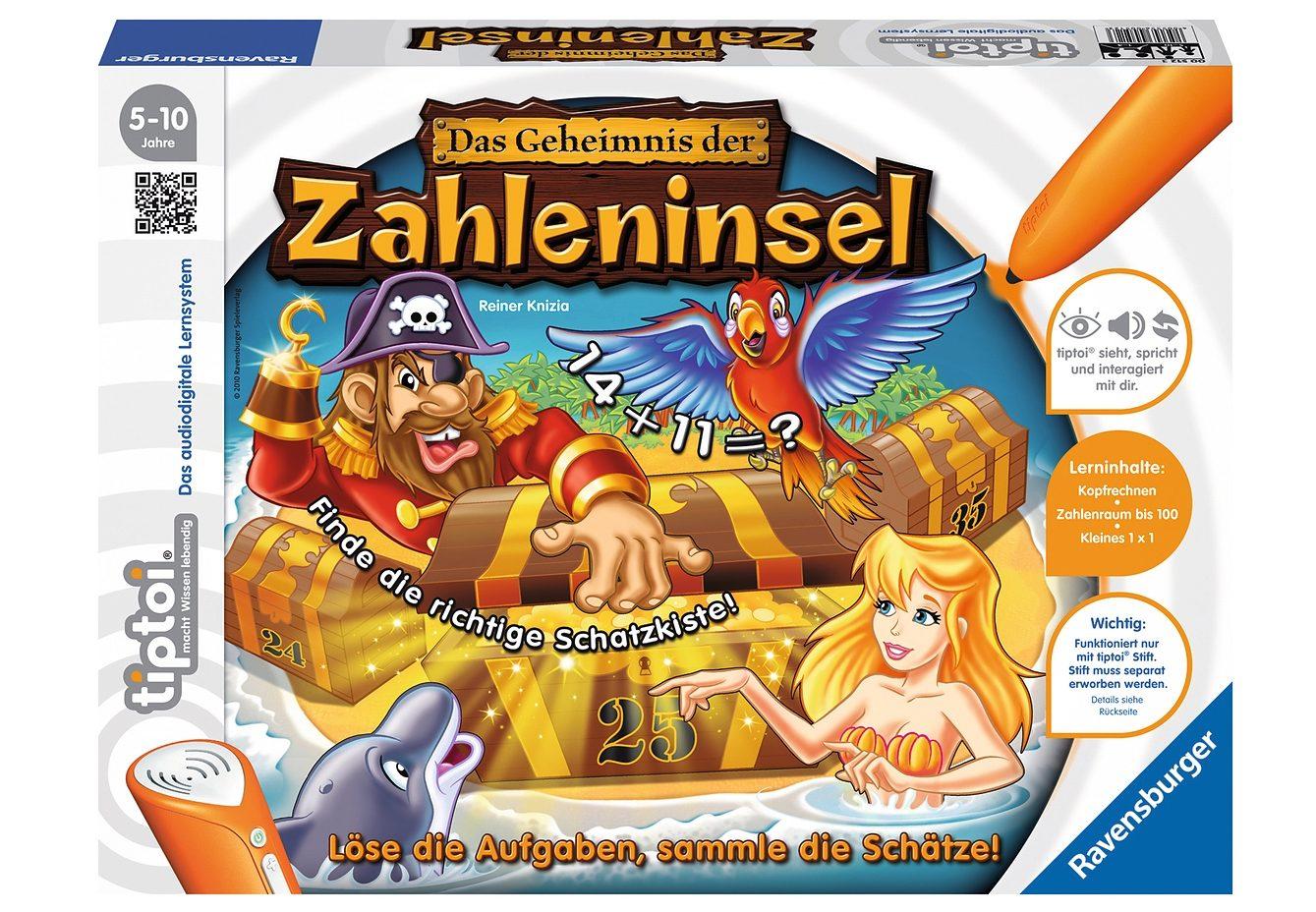 Ravensburger tiptoi® Spiel, »Das Geheimnis der Zahleninsel«