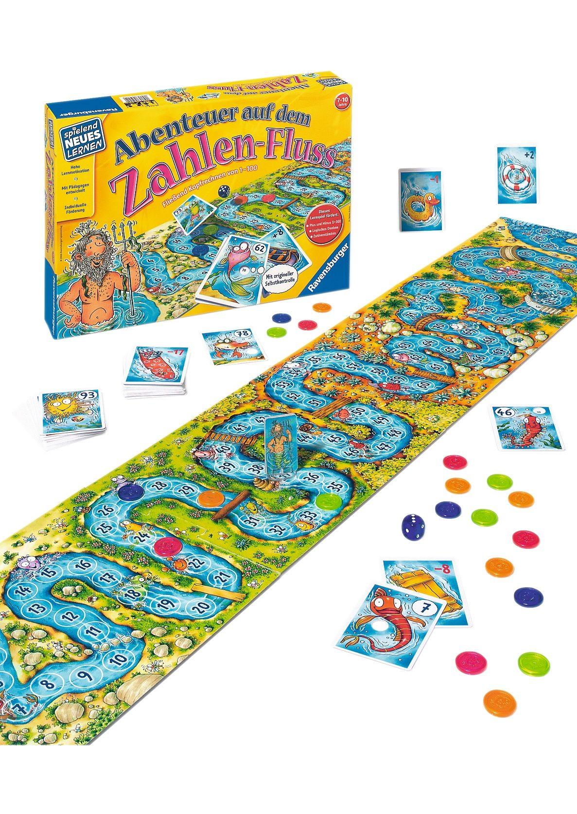 Ravensburger Kinder-Spiel, »Abenteuer auf dem Zahlen-Fluss«