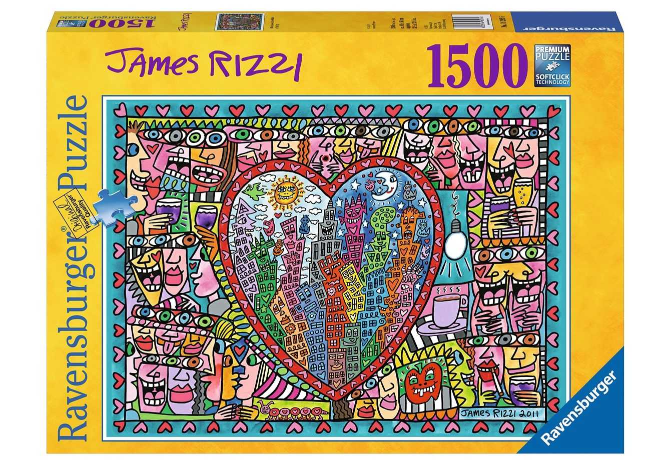 Ravensburger Puzzle 1500 Teile, »All that Love in the Middle oft the City«