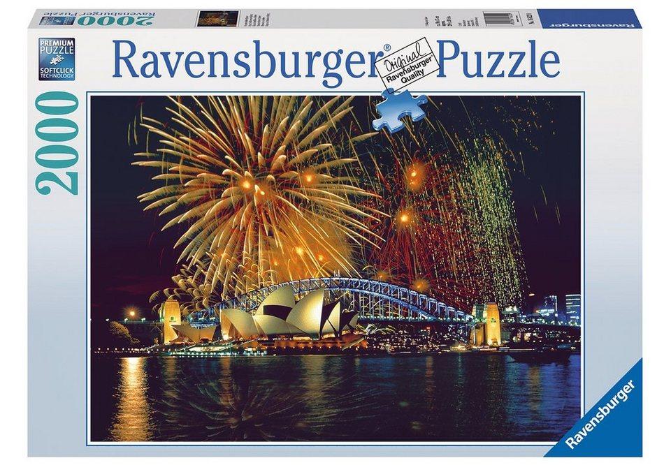 ravensburger puzzle 2000 teile feuerwerk ber sydney online kaufen otto. Black Bedroom Furniture Sets. Home Design Ideas