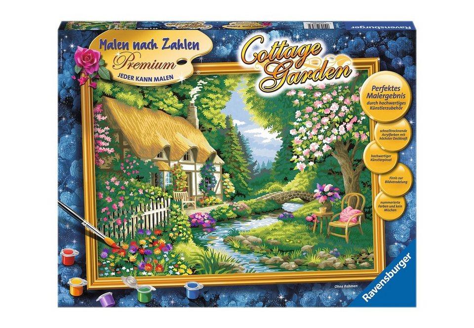 Ravensburger Malen nach Zahlen,  Cottage Gardene