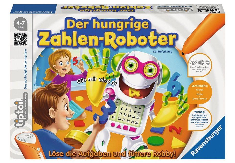 Ravensburger tiptoi® Spiel, »Der hungrige Zahlen-Roboter«