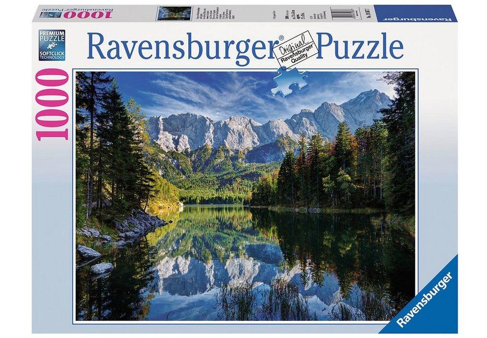 Ravensburger Puzzle 1000 Teile,  Eibsee mit Wettersteingebirge und Zugspitze  online kaufen
