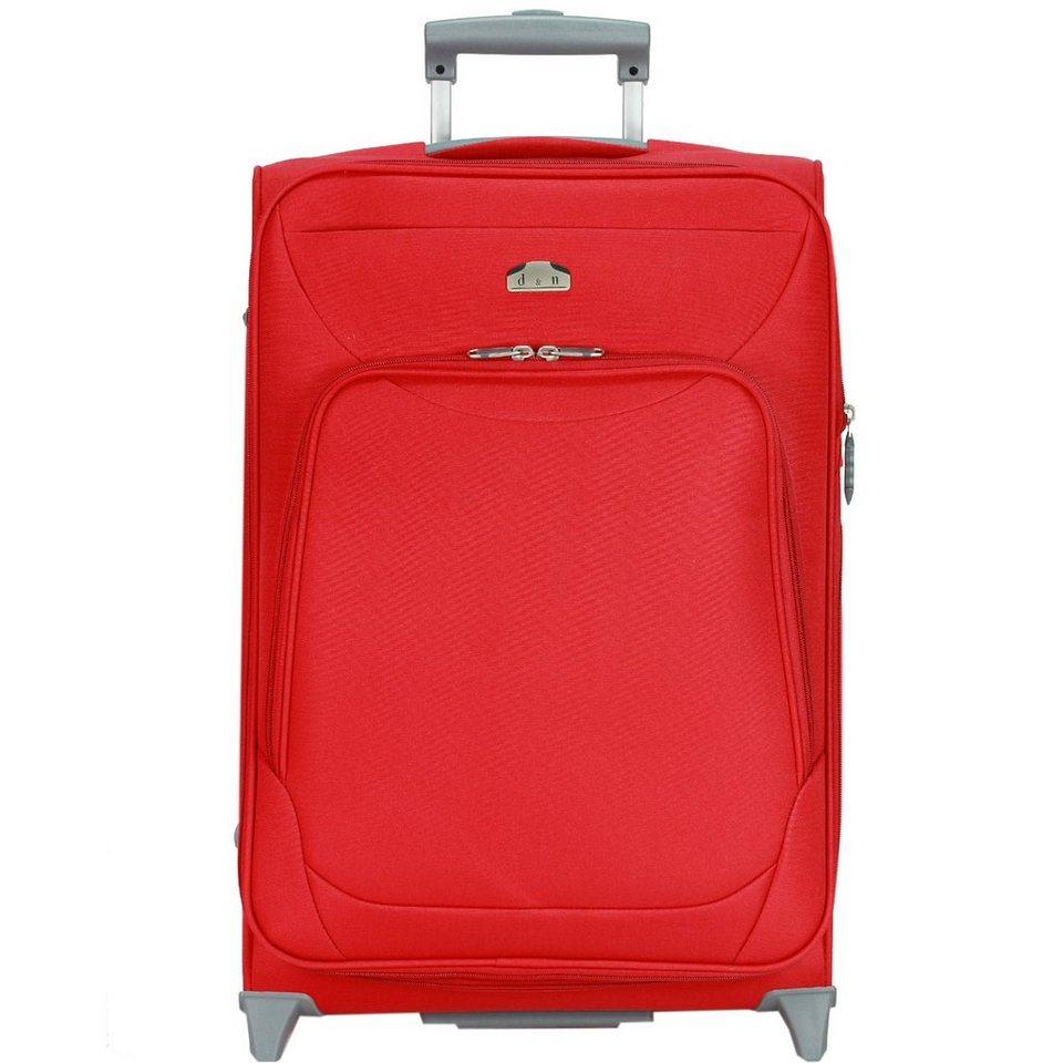d & n Travel Line 6100 2-Rollen Trolley 70 cm in rot