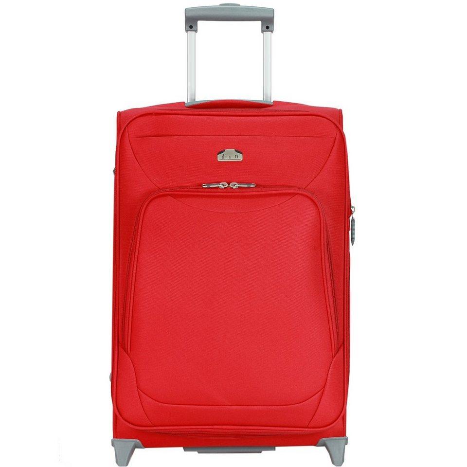 d & n Travel Line 6100 2-Rollen Trolley 60 cm in rot