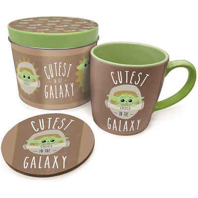 Star Wars Tasse »Geschenkbox Baby Yoda (Tinbox,Tasse,Untersetzer)«