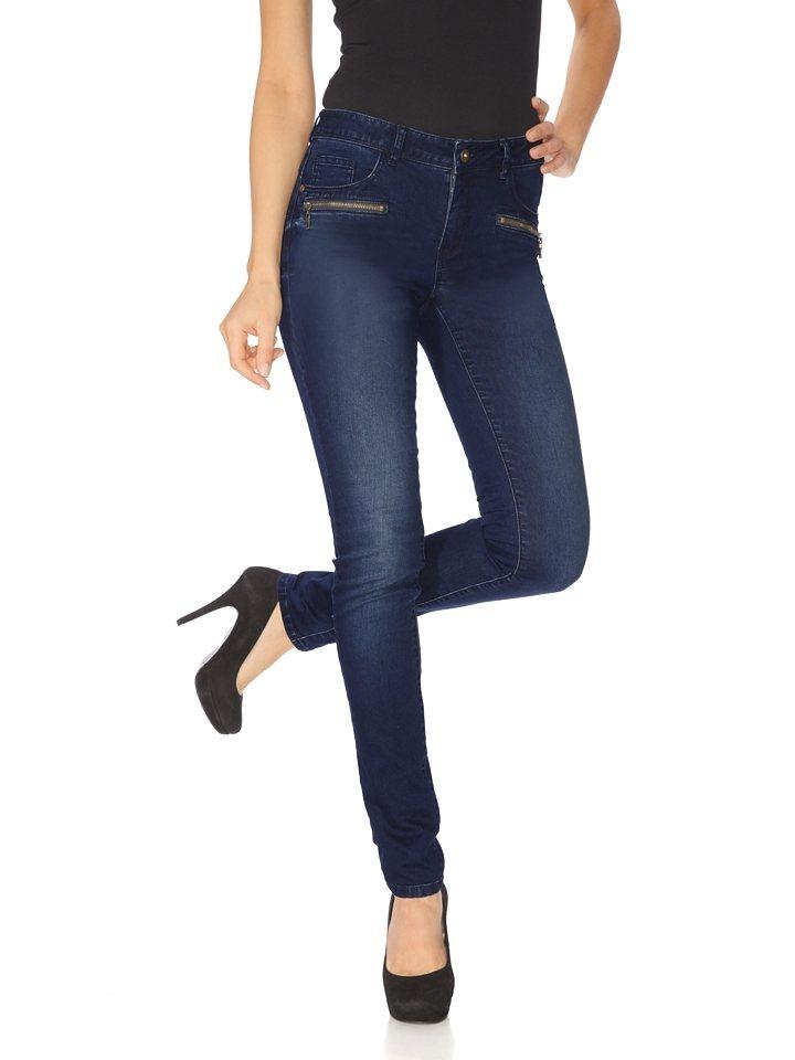 PATRIZIA DINI by Heine Bauchweg-Jeans in blue denim