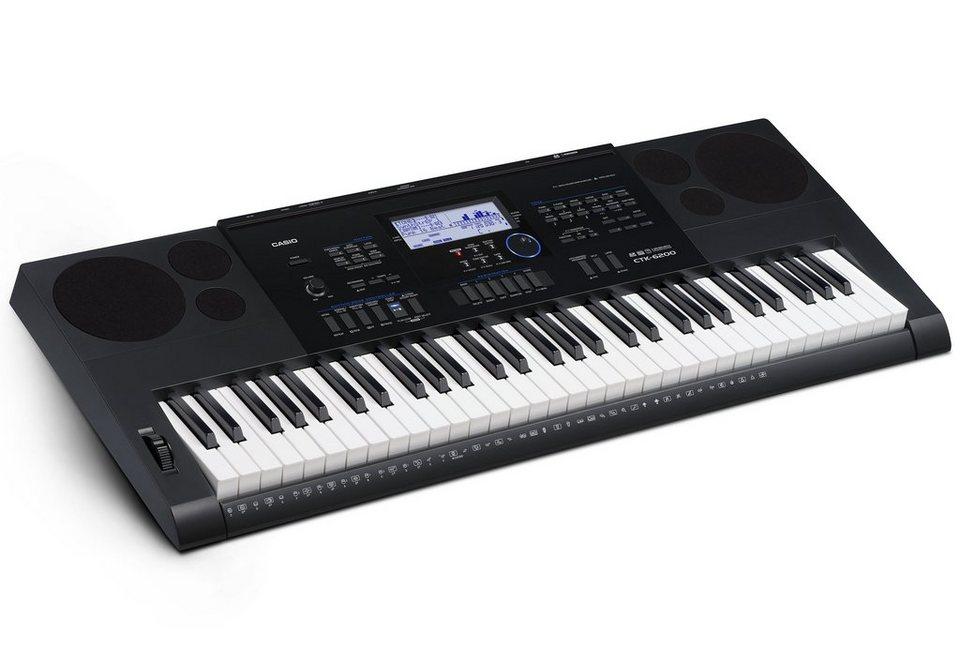 Casio® Keyboard, »CTK-6200 inkl. Netzteil u. Notenhalter« in schwarz