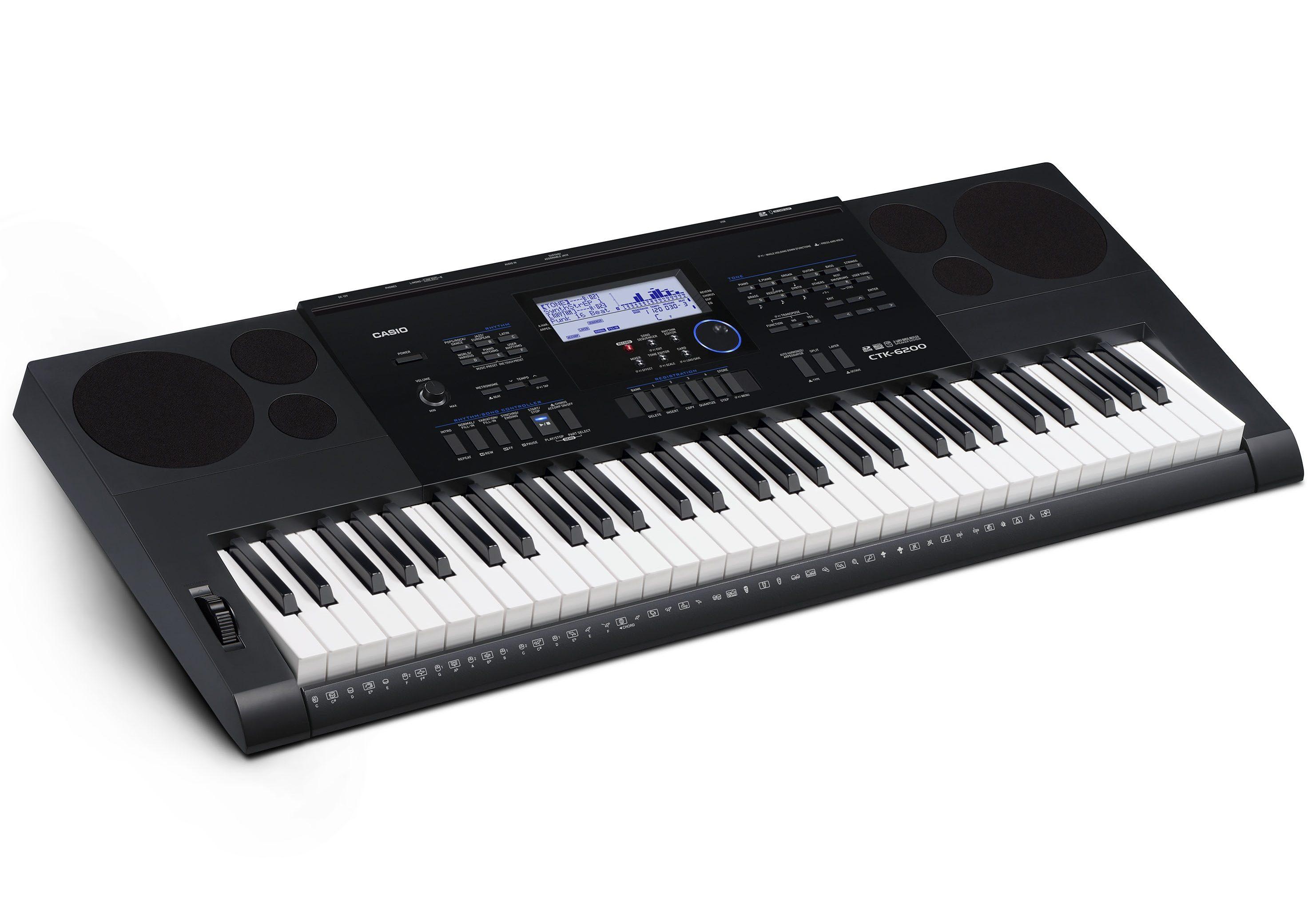 Casio® Keyboard, »CTK-6200 inkl. Netzteil u. Notenhalter«
