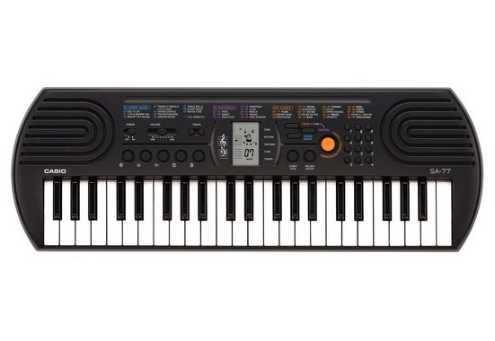 CASIO Keyboard »SA77«, Mini-Keyboard mit praktischem LC-Display
