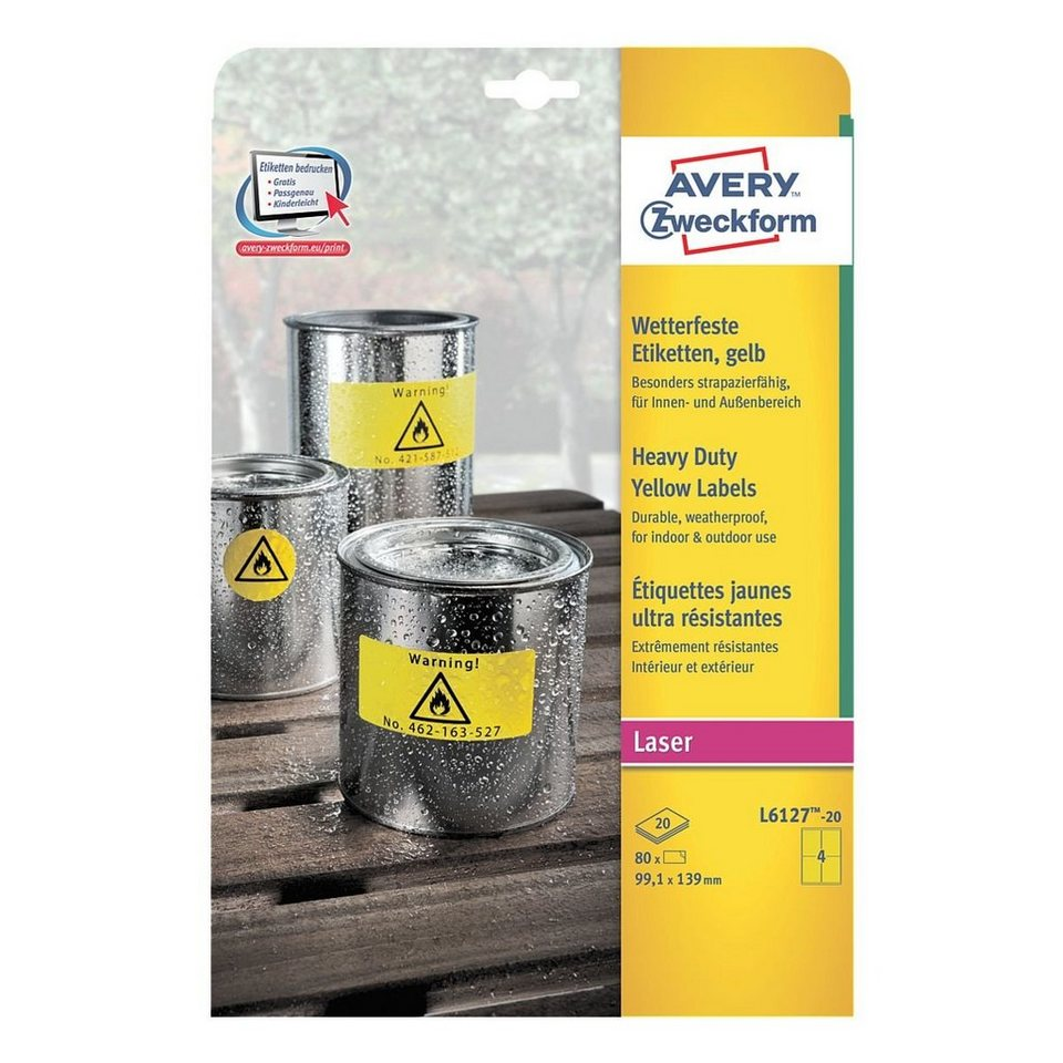 Avery Zweckform 80er-Pack Folien-Etiketten »L6127-20«