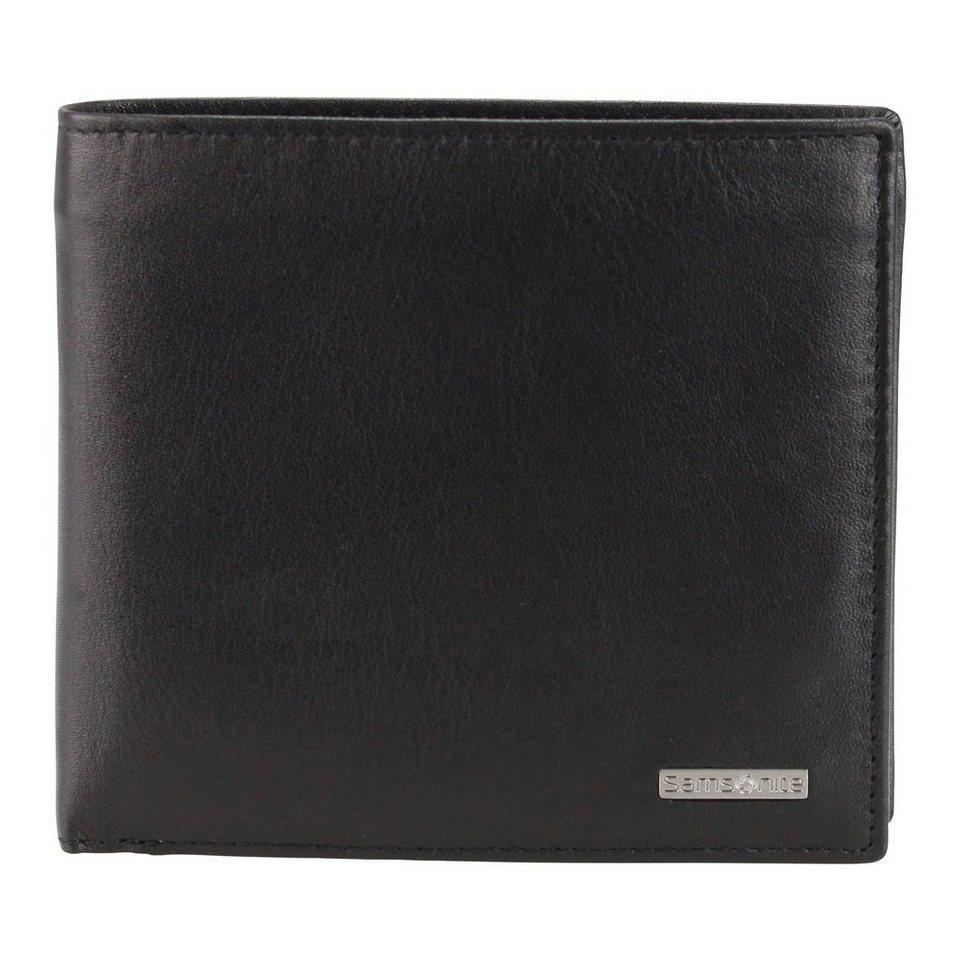Samsonite S-Derry Geldbörse Leder 11.5 cm in black