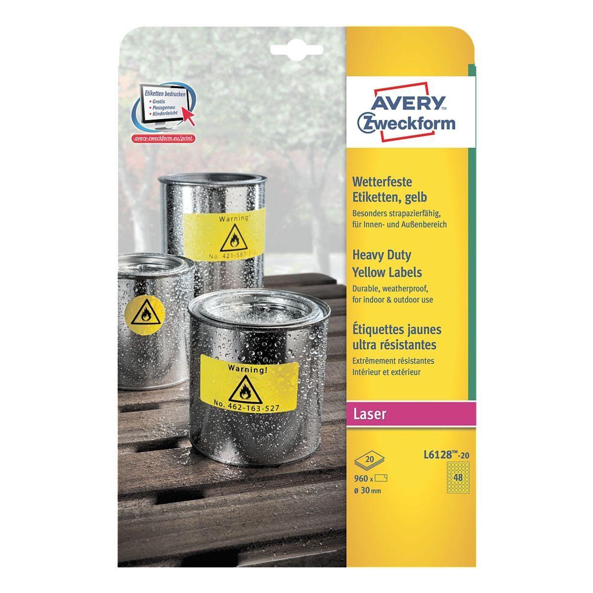 Avery Zweckform 960er-Pack Folien-Etiketten »L6128-20«