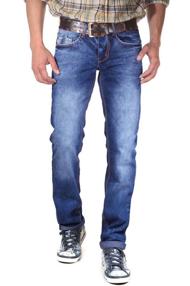 R-NEAL Jeans straight fit in blau