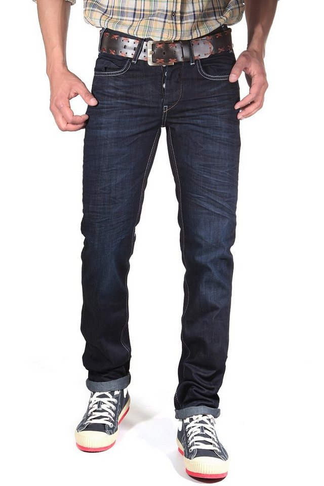 R-NEAL Jeans straight fit in dunkelblau