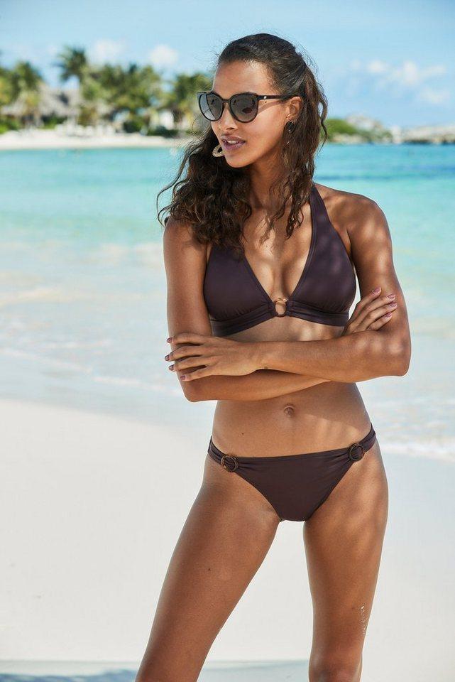 Bademode - s.Oliver Beachwear Bikini Hose »Rome«, mit Zierringen › braun  - Onlineshop OTTO