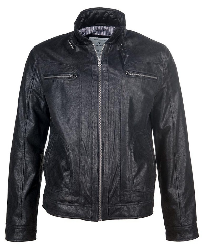 TOM TAILOR Lederjacke, Herren »213/56« in black
