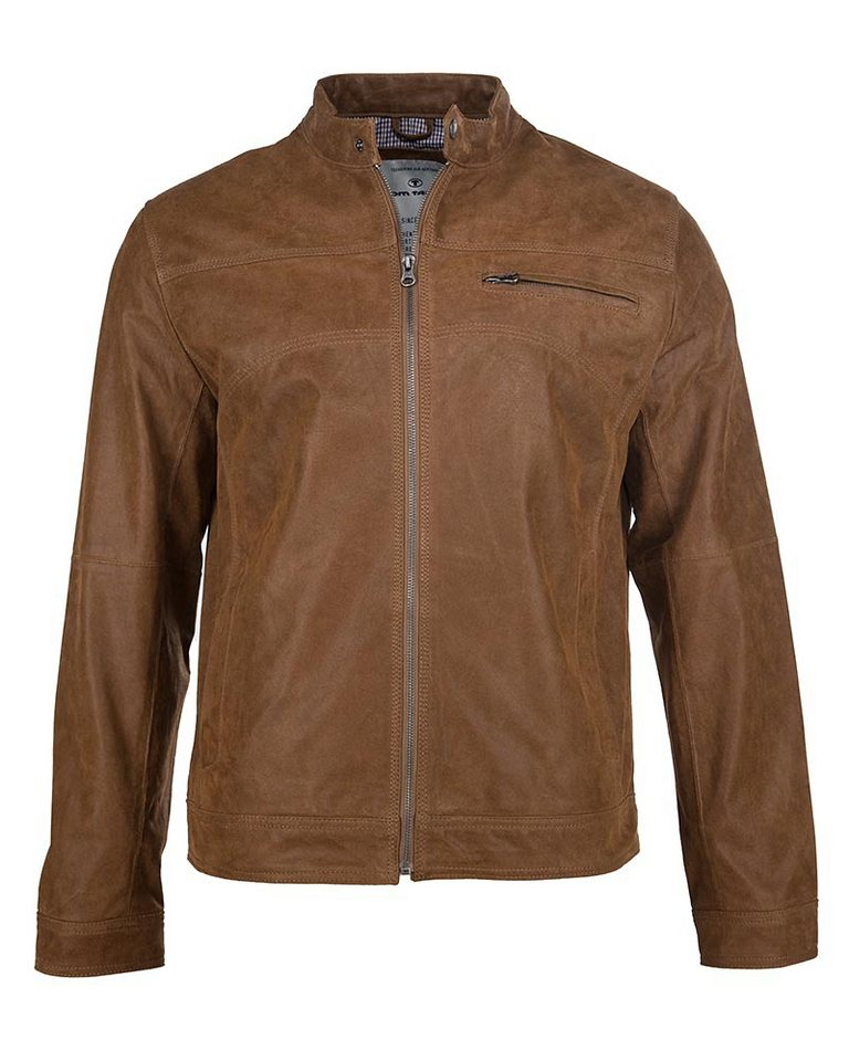 TOM TAILOR Lederjacke, Herren »Elvis« in cognac