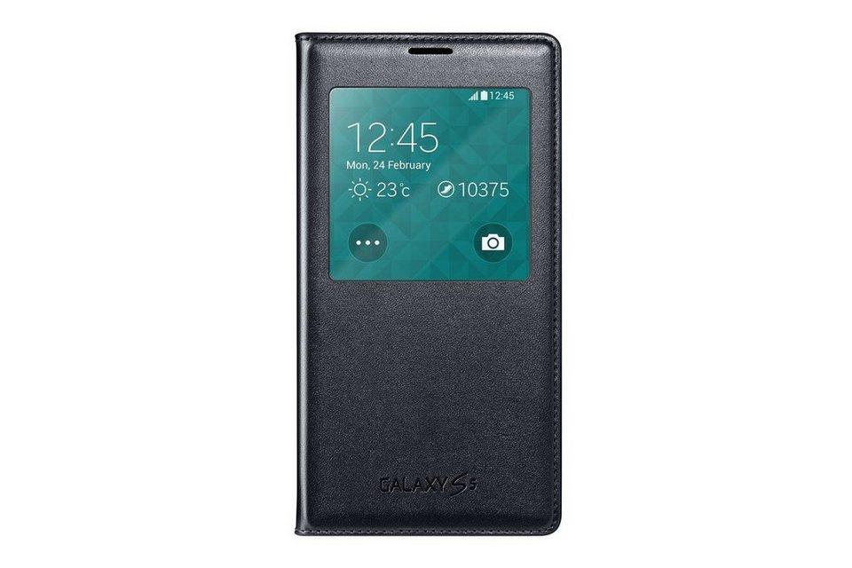 Samsung Handytasche »S-View Cover EF-CG900 für Galaxy S5, Black« in Schwarz