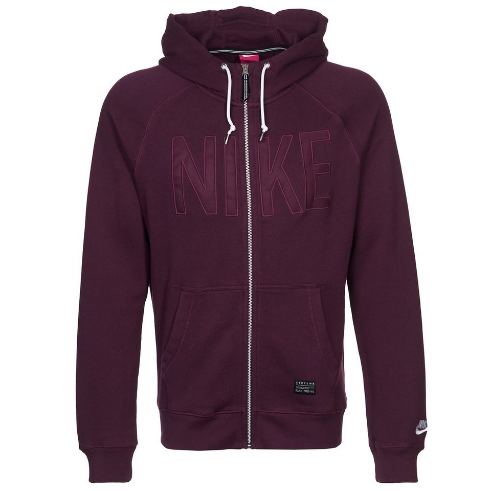 Nike Sportswear AW77 Kapuzenjacke Herren in rot / weiß