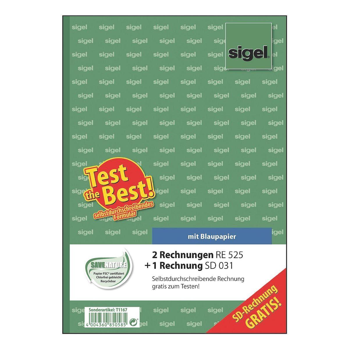 Sigel 2er-Set Formularbücher »Rechnung« inkl. 1x For...