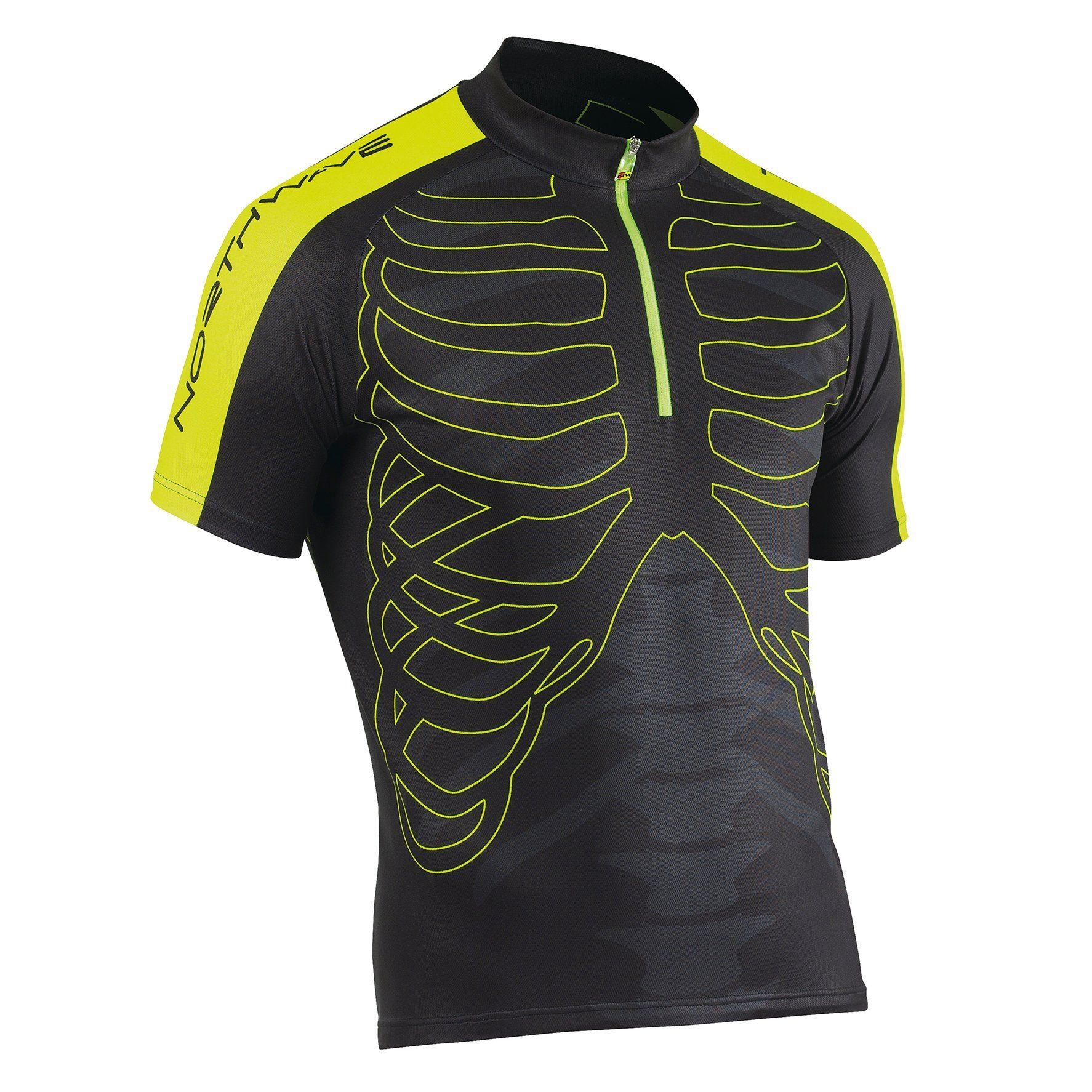 Northwave T-Shirt »Skeleton SS Jersey Men black/yellow«