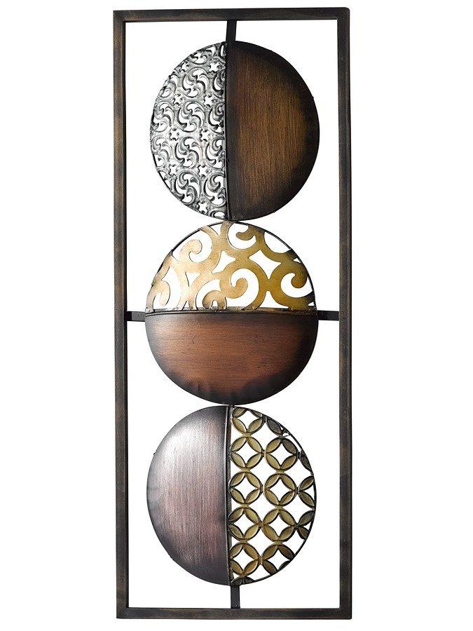 Wand-Deko Kreis in braun