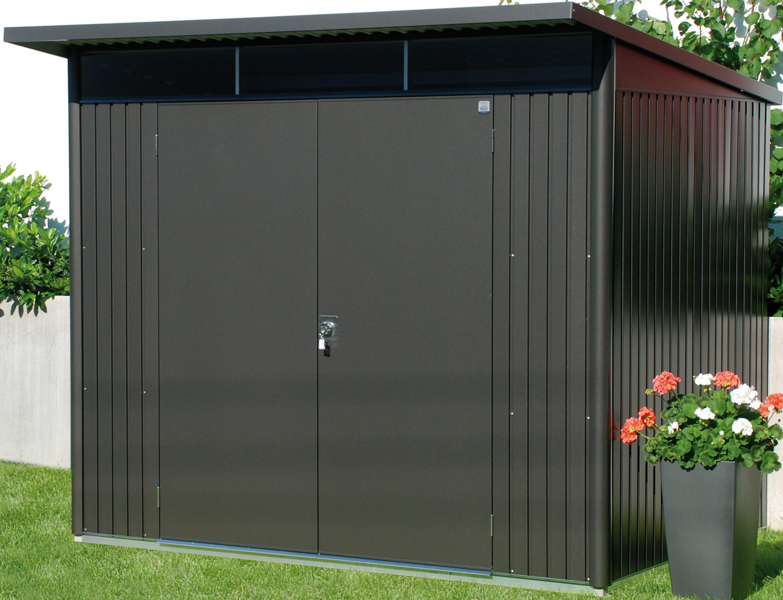 BIOHORT Stahlgerätehaus »AvantGarde L«, BxT: 257x177 cm, dunkelgrau-metallic