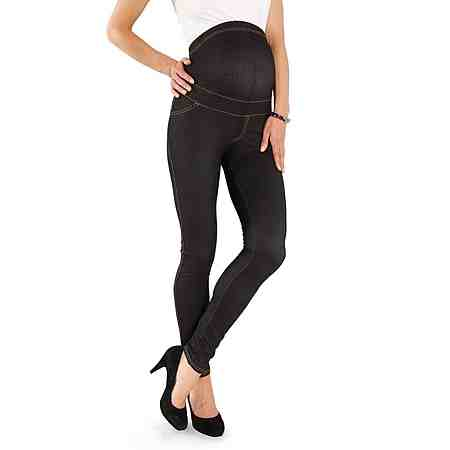 Neun Monate Umstandsleggings in Denim-Optik