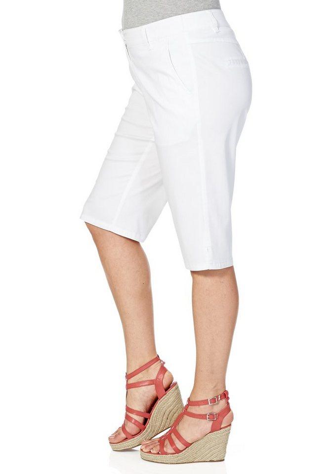 sheego Casual Stretch-Bermuda in weiß