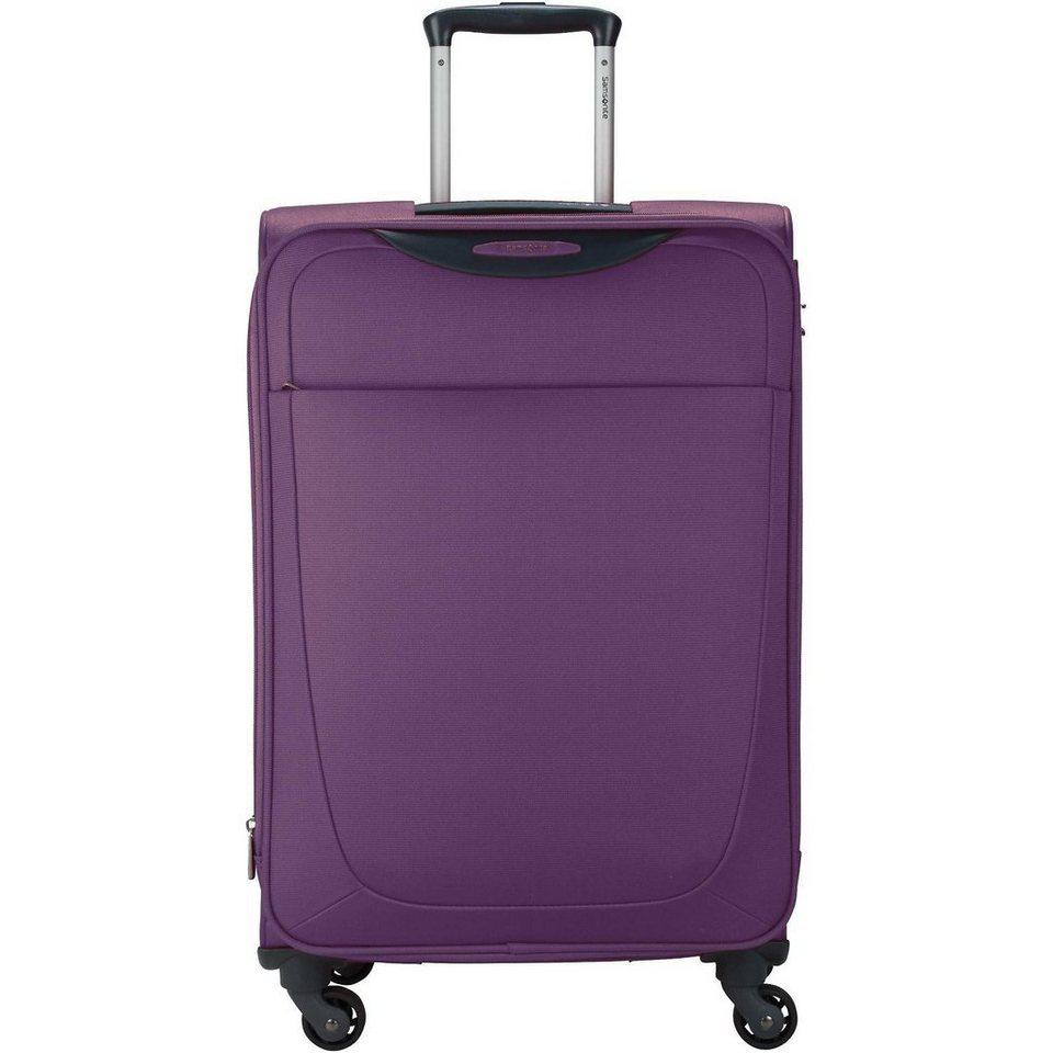 Samsonite Base Hits Spinner 4-Rollen Trolley 66cm in purple
