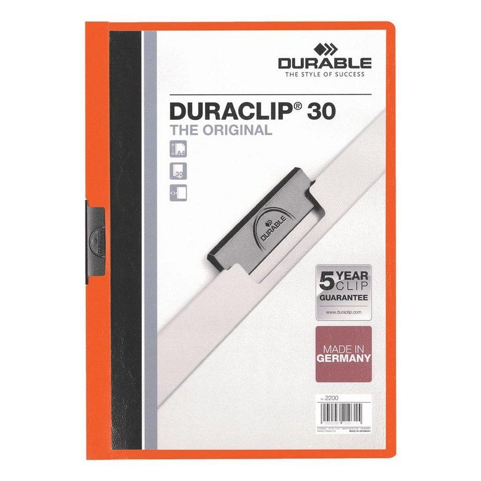 Durable Klemmhefter »Duraclip 30« in orange