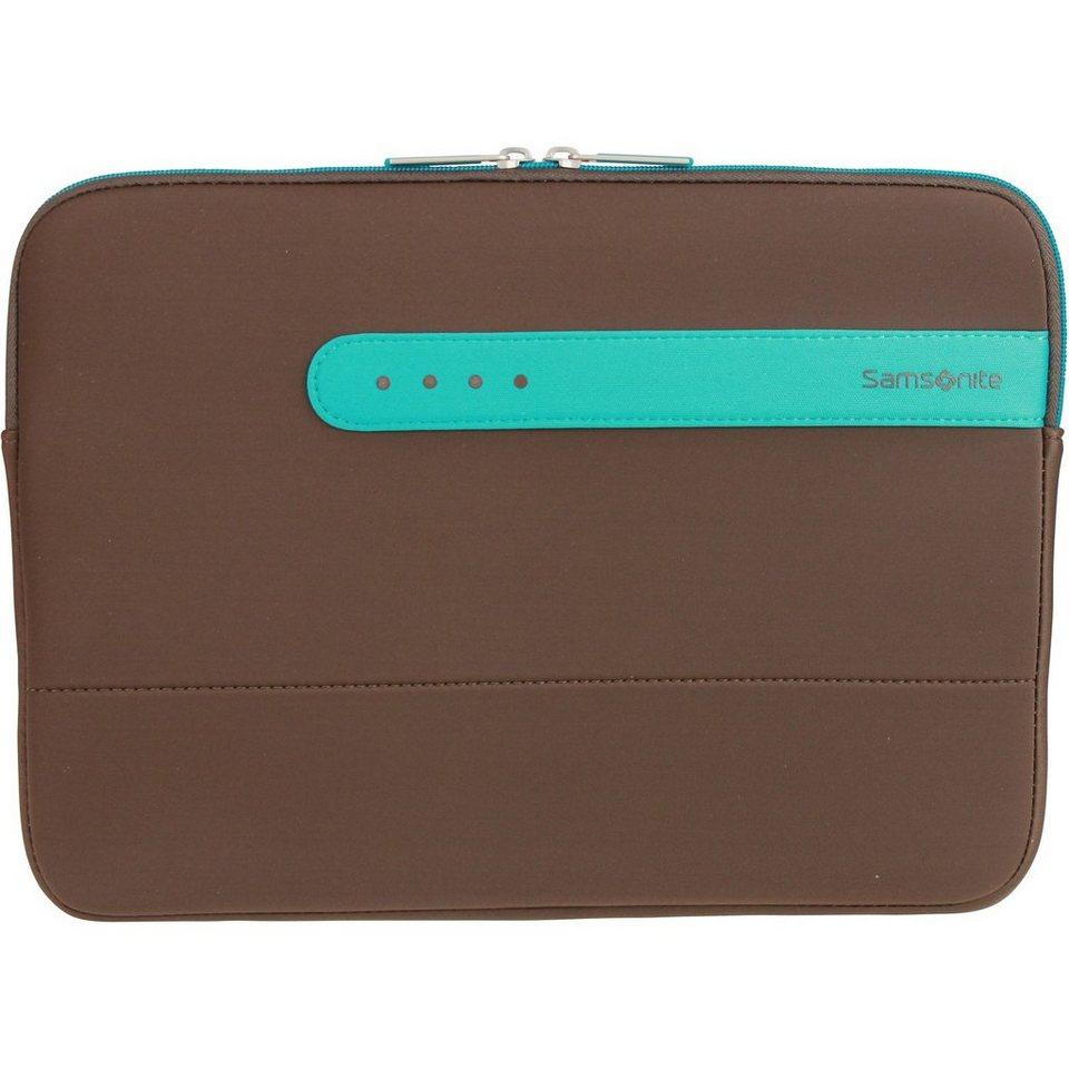 Samsonite Colorshield Laptophülle 30.2 cm in dark brown turquoise
