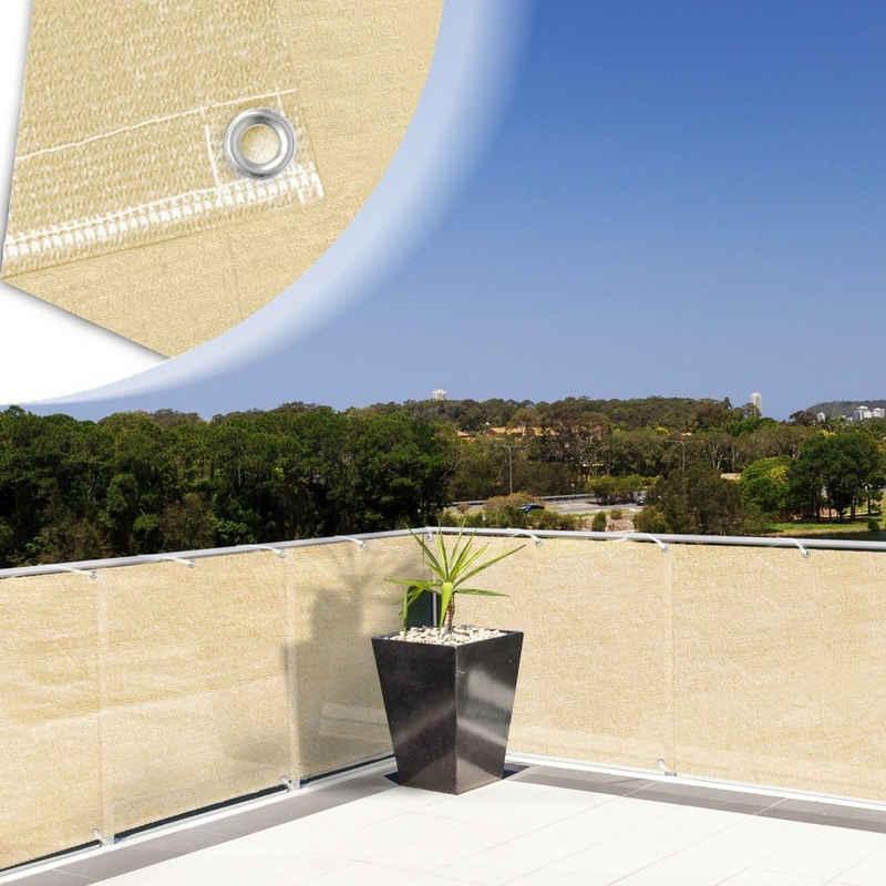 Kubus Balkonsichtschutz »Balkonsichtschutz creme-beige«