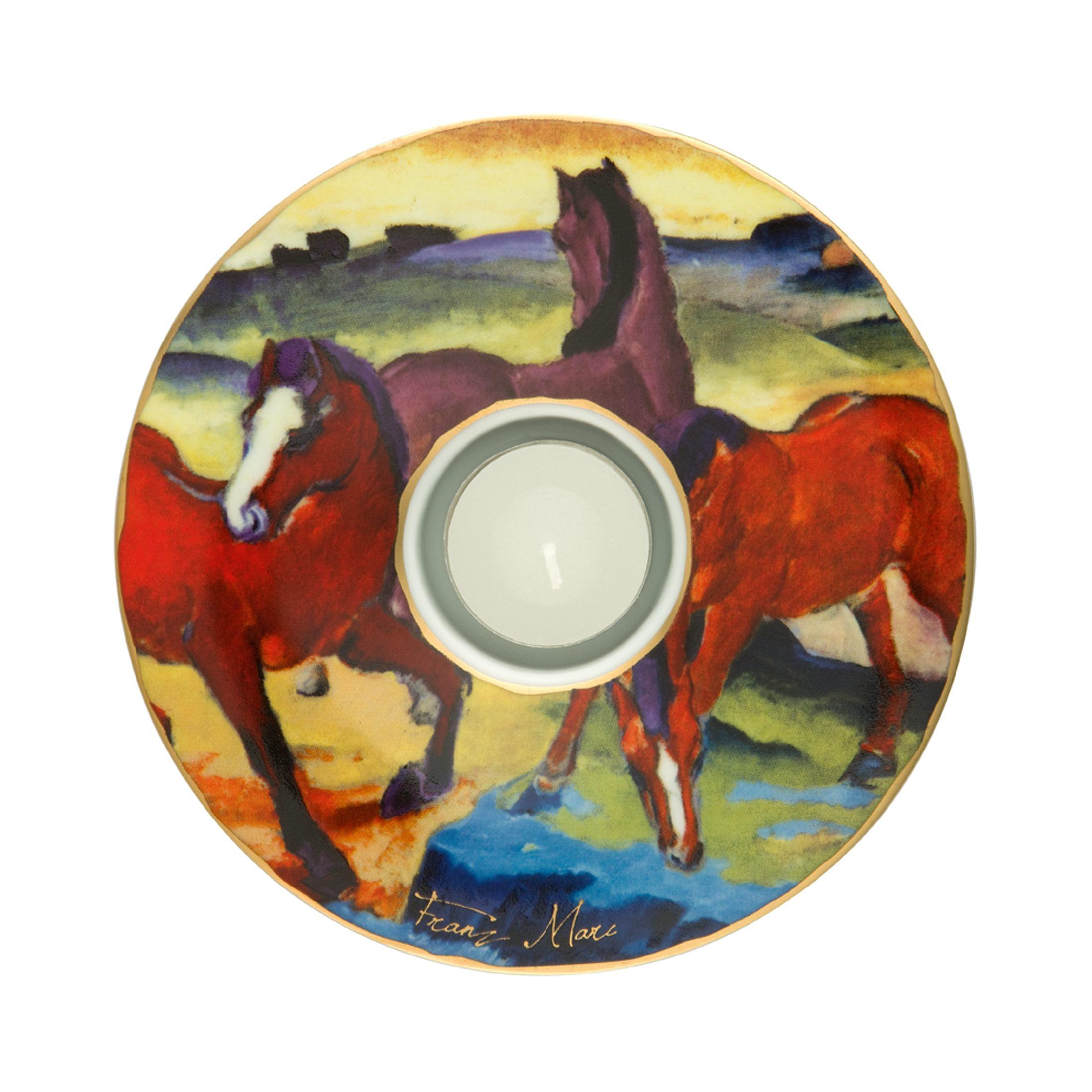 Goebel Die roten Pferde - Teelichthalter »Artis Orbis«