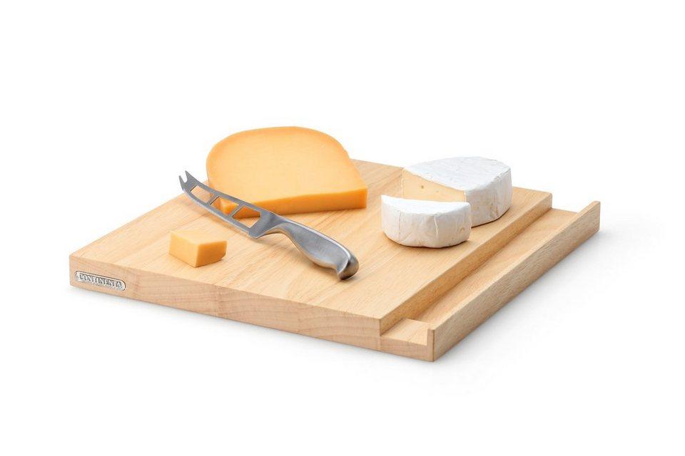 Continenta Set: Käsebrett mit Messer in Natur
