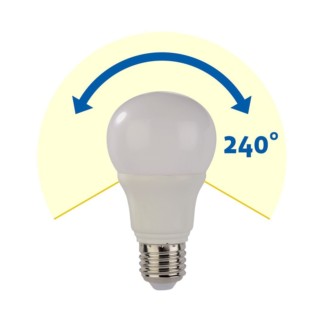 Xavax LED-Lampe, E27, 500lm ersetzt 42W Glühlampe, Warmweiß, dimmbar