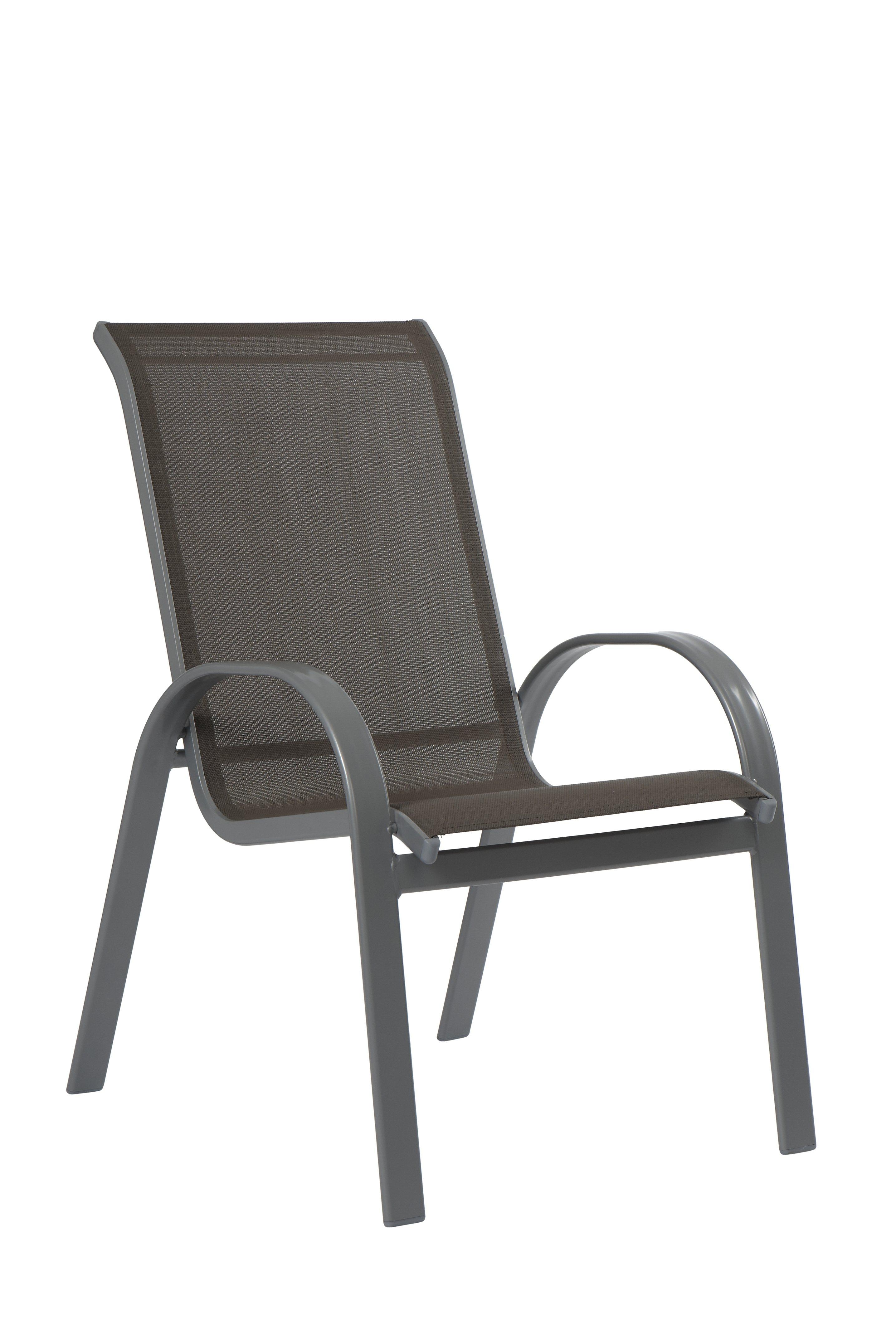 Gartenstuhl »Amalfi«, (2er Set), Alu/Textil, Stapelbar