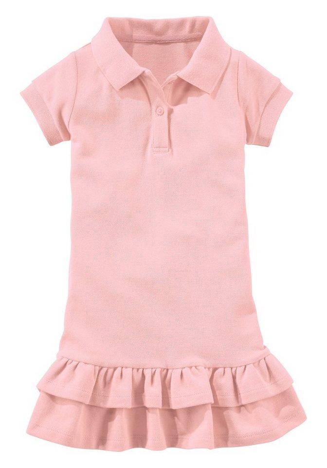 PETITE FLEUR Kleid für Mädchen, mit Polokragen in Rosa