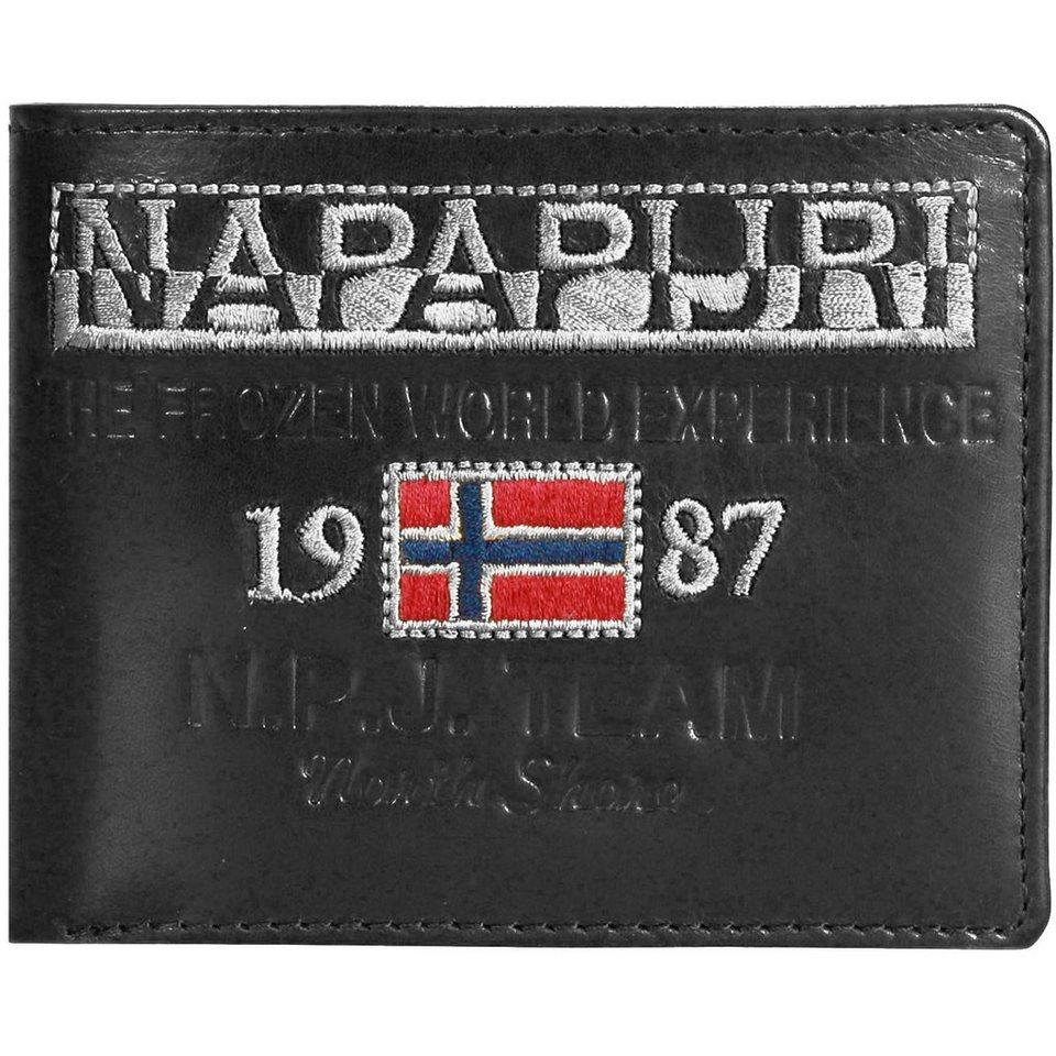 Napapijri Reisa Geldbörse Leder 12 cm in black