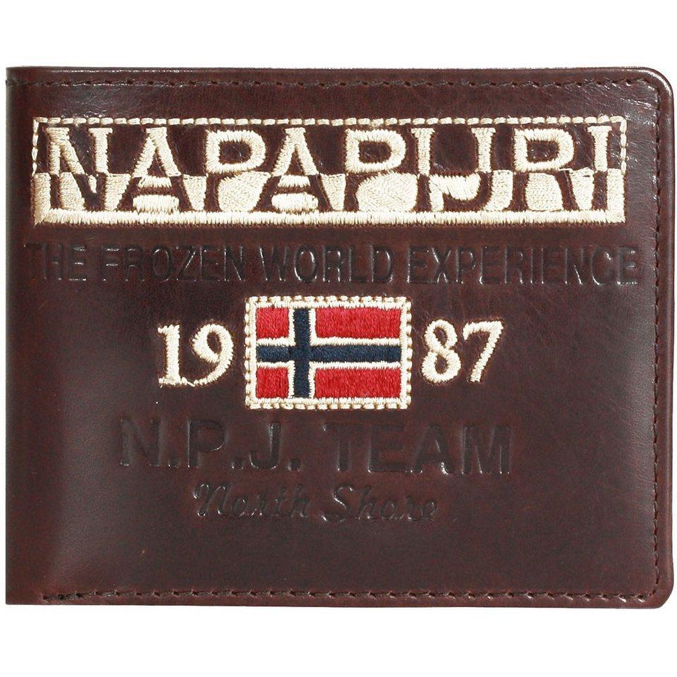 Napapijri Reisa Geldbörse Leder 12 cm in brown