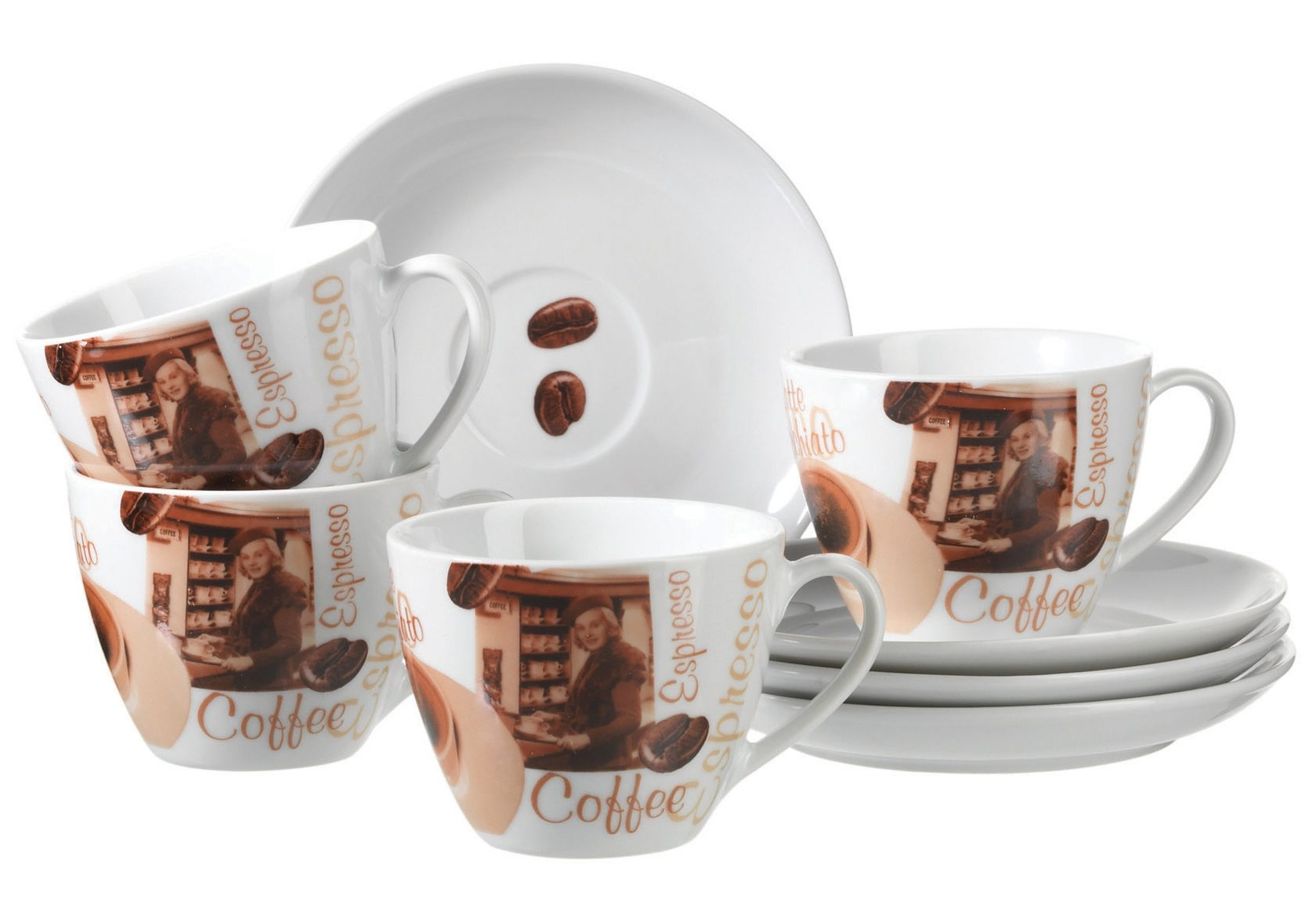 Cappuccino-Set, Domestic (8-tlg.)